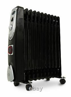 11 Fin 3kw Portable Electric Oil Filled Radiator Heater 2500w 3 Heat Settings