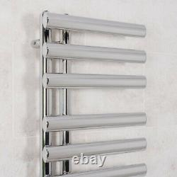 1200x450 mm Oval Chrome Designer Ladder Rads Bathroom Heated Towel Rail Radiator