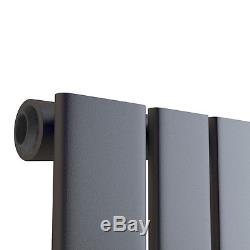 1600 x 452mm Anthracite Vertical Flat Single Panel Bathroom Central Heated Rad