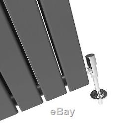 1600x452mm Double Anthracite Radiator Flat Panel Vertical Central Heating Rails