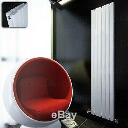 1800 x 354 mm White Designer Rad Vertical Double Flat Panel Radiator Massive BTU
