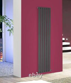1800x408mm Anthracite Vertical Radiator Tall Upright Bathroom Designer Rads