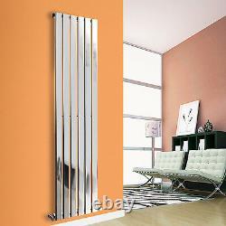1800x408mm Vertical Flat Panel Designer Bathroom Tall Upright Radiator Chrome
