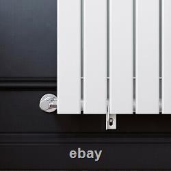 1800x452 Vertical Double Flat Panel White Radiator Designer Bathroom Column Rads