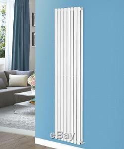 1800x472 mm Vertical Central Heating Rads Designer White Oval Column Radiator