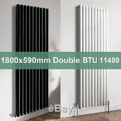 1800x590mm Vertical Oval Column Bathroom Designer Radiator Central Heating Rad