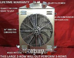 1928 1929 1930 1931 Ford Model A Street/Rat Rod Aluminum Radiator Chevy V8