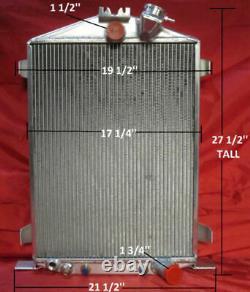 1932 Ford Hi Boy, High Boy Street Rod Aluminum Radiator, Shroud, Fan, Chevy Motor