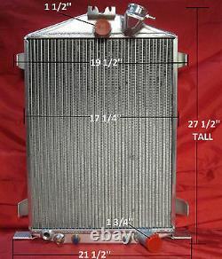 1932 Ford Street Rod Aluminum Radiator Hi/High Boy Chevy Motor Shroud Fan Relay