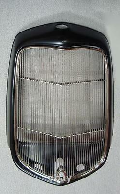 1932 Ford Street Rod Steel Radiator Shell w Hole + Stainless Grille Insert Hole