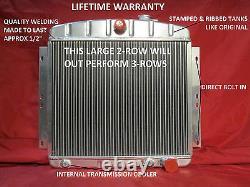 1949-1954 Chevrolet Passenger Car Aluminum Radiator Bel Air Styleline Fleetline