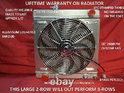 1964 1965 1966 Ford Mustang Falcon Comet Aluminum Radiator with Shroud & 16 Fan