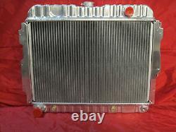 1966-72 Mopar B & E Body Black Aluminum 26 Radiator Roadrunner Challenger Cuda