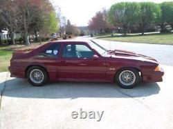 1987-93 Ford Mustang Radiator Bumper Filler Cover Aluminum Fox Body Made In USA
