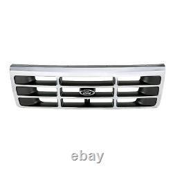 1993-1996 Ford Bronco F150 F250 F350 Chrome Radiator Grille OEM NEW F4TZ8200A