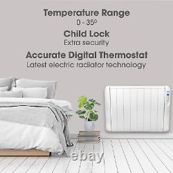 2000w Electric Panel Heater Radiator With Timer Thermostat Wall Mounted
