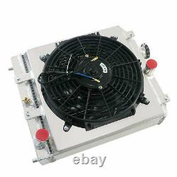 3 Row Radiator & Shroud +Fan For 1992-2000 Honda CIVIC EG EK B16 B18 CRX DEL SOL