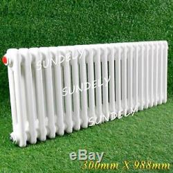 300x988MM Horizontal Traditional Radiator steel Victorian Style Central Heating