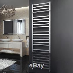 304 Stainless Steel Heated Towel Rail Bathroom Radiator Square Designer Polished