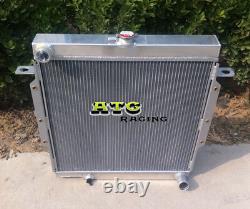 3ROW Aluminum Radiator for Toyota Land Cruiser Landcruiser 75 Series HZJ75 90-01