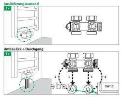 3x Buderus Ventil-Armaturen Set Multiblock Universal Eck- und Durchgangsform