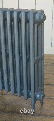 4 Column Victorian 660mm Tall Cast Iron Radiator 8 Sections Next Day Delivery