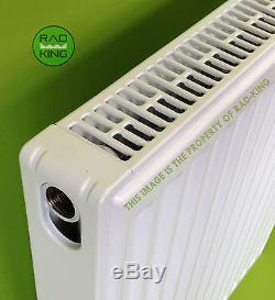 400mm HIGH T22 DOUBLE CONVECTOR CENTRAL HEATING RADIATOR VARIOUS WIDTHS VALVES