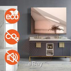 450W Spiegelheizung Infrarotheizung Spiegel mit Schalter Elektrische Heizpllatte