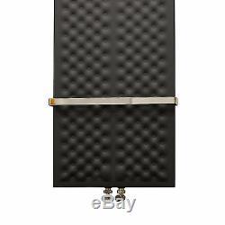 450mm wide 1200mm high Black Designer Heated Towel Rail Radiator Modern Bathroom