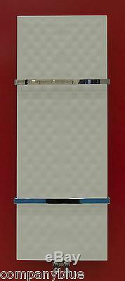 450mm wide 1200mm high White Designer Heated Towel Rail Radiator Bath or Kitchen