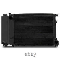 45MM BLACK ALLOY RADIATOR RAD FOR BMW 3 5 SERIES E30 E36 E34 318i 320i 325i