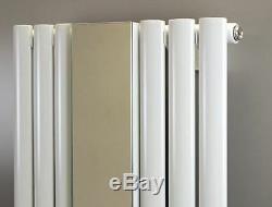 499mm (w) x 1800mm (h) Brecon Mirror White Designer Vertical Radiator 3953 BTU
