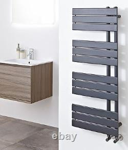 500mm(w) x 1200mm(h) Apollo Anthracite Heated Towel Rail Radiator 3323 BTUs