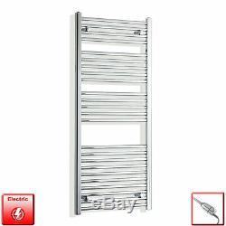 550mm Wide 1300mm High Designer Flat Chrome Heated Towel Rail Radiator Bathroom
