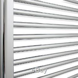 550mm Wide 1700mm High Designer Flat Chrome Heated Towel Rail Radiator Bathroom