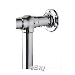 585x825mm White / Chrome Traditional Towel Rail Bathroom Central Heated Radiator