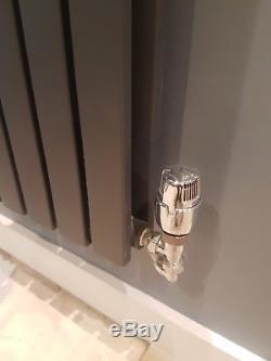 6 Horizonal Vertical Designer Flat Panel Dbl Central Heating Radiator Anthracite