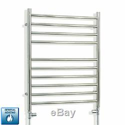 600 x 750 Stainless Steel Heated Towel Rail Flat Radiator for Central Heating
