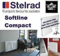 600mm High Central Heating Radiator Double or Single Convector Panel K1 / K2 TRV