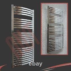 600mm(w) x 1400mm(h) Ellipse Chrome Heated Towel Rail Radiator Warmer 3428 BTU