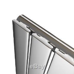 600x408mm Horizontal Flat Panel Column Designer Central Heating Radiator Chrome