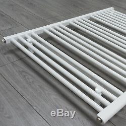 850mm Wide White Heated Towel Rail Radiator Straight Ladder Bathroom Rad Central