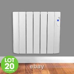 900w Oil Filled Radiator Electric Heater Wall Mounted With Timer Thermostat