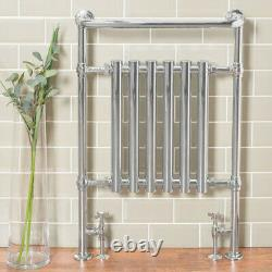 952 x 659mm Bathroom Chrome Traditional Victorian Heated Towel Rail Radiator