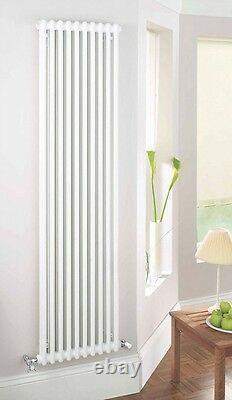 Acova Classic 2-column Vertical Radiator White 2000 X 398mm 3767btu (46099)