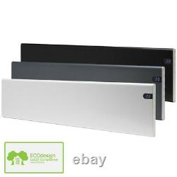 Adax Neo Low Profile Electric Panel Heater + Timer, Wall Mounted, Modern, Lot 20
