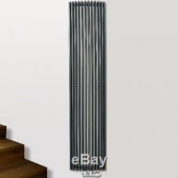Agadon Corner Vertical Triangular Tube Designer Radiator FREE Central Valve