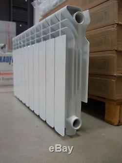 Aluminum Central Heating Radiator High Efficient Modern Round Shape 430mm Height