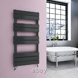 Anthracite Designer Flat Panel Heated Towel Rails Bathroom Ladder Radiator Rads