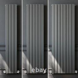 Anthracite Designer Radiator 1800 Vertical Double Flat Panel Central Heating Rad